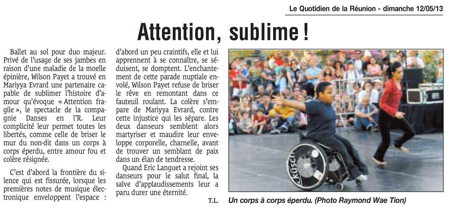 Attention, sublime !